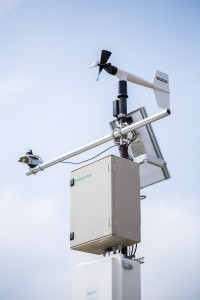 Environmental Station in Field Scan measuring wind speed and PAR
