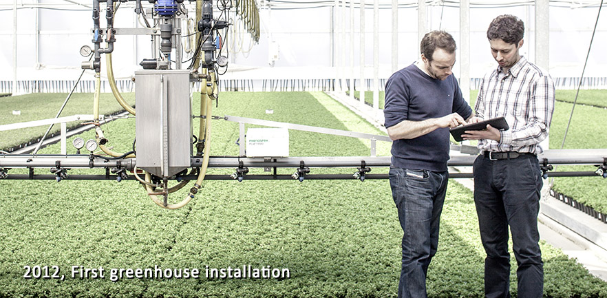 In 2012 Grégoire & Uladzimir finished their first big installation with first production version of PlantEye